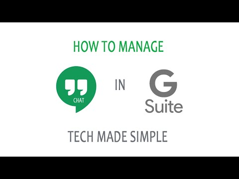 How To Manage Hangouts Chat In G Suite