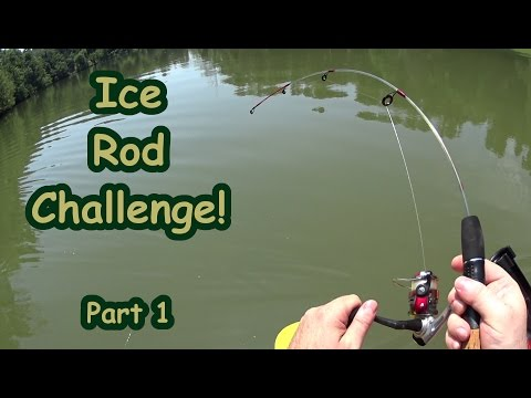 Ice Rod Fishing Challenge Part 1 Two Channel Catfish On Kayak