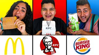 🍟MAC DONALDS VS. 🍔BURGER KING VS. 🍗KFC CHALLENGE