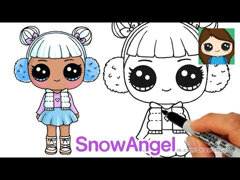 how-to-draw-snow-angel-|-lol-surprise-doll
