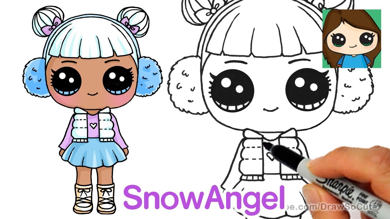How To Draw Snow Angel Lol Surprise Doll Youtube