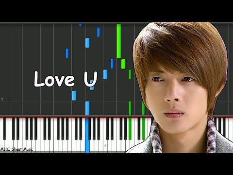Boys Over Flowers - Love U Piano midi