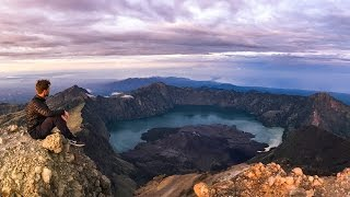 ILLEGAL CLIMB to Indonesia's 2nd Highest Volcano (3726M) | Rinjani, Indonesia 🇮🇩