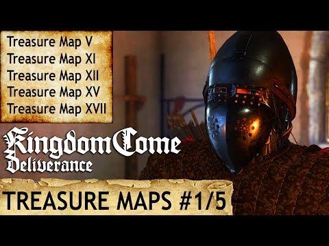 Kingdom Come: Deliverance - Treasure Maps V, XI, XII, XV, XVII
