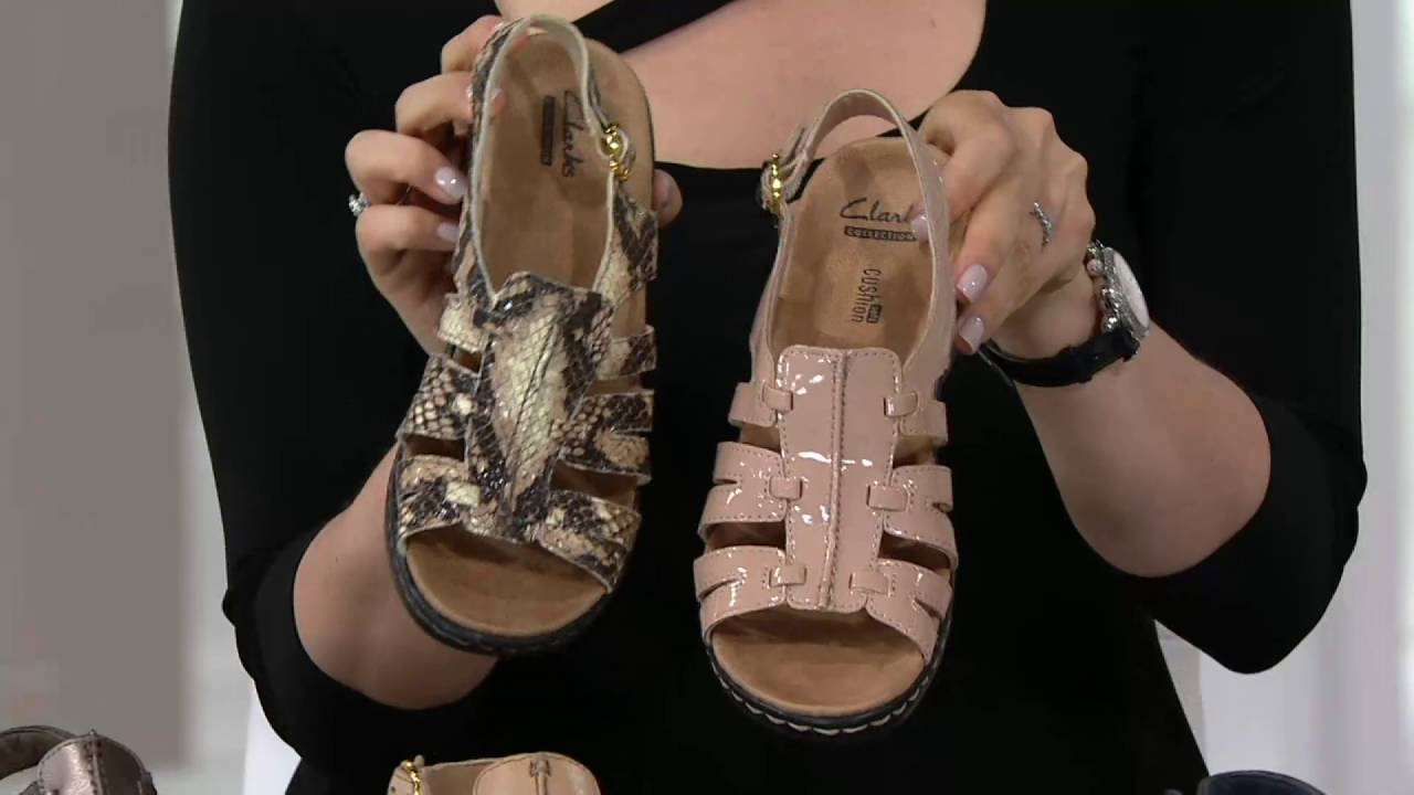 bc9afc661a62 Clarks Leather Lightweight Sandals - Lexi Marigold on QVC - YouTube