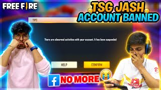 TSG Jash Free Fire Account Banned😱 ?  || Ritik Using Cheats in Jash Account - Two Side Gamers