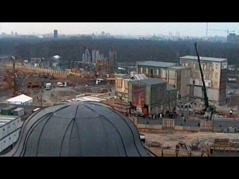 Die Baustelle Potsdamer Platz am 15.03.1996