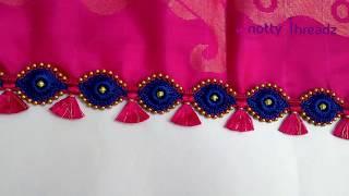 Easy Crochet Saree Kuchu Using Ring Beads with Kannada Explanation   Bridal   www.knottythreadz.net