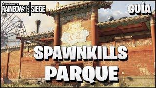 TODOS los SPAWNKILLS y SPOTS de PARQUE de ATRACCIONES | Caramelo Rainbow Six Siege Gameplay Español