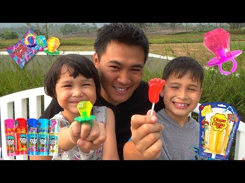 Berburu Mainan dan Permen Lollipop Unik - Chupa Chups Push Pop +  Main Bubble Gloves