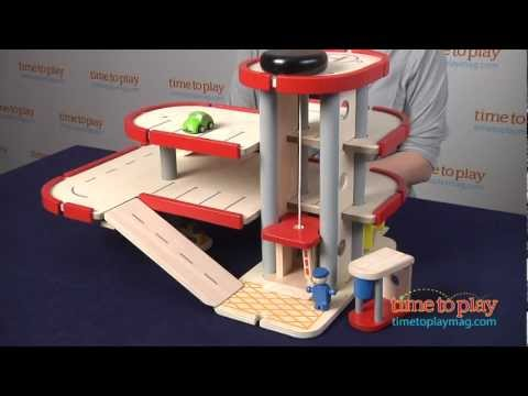 Plan Toys Garage : Parking garage from plan toys youtube