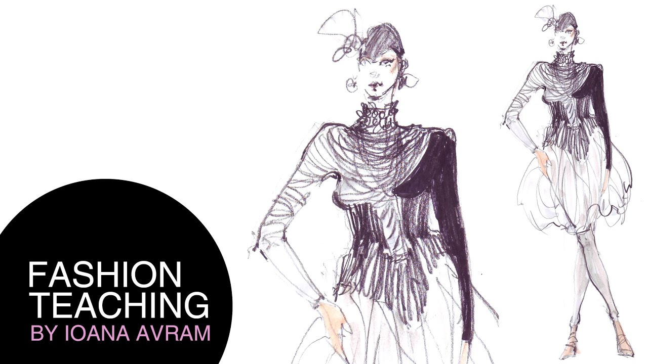 How To Draw Fashion Sketches Youtube