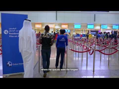 Express passport control with Smart Gates at DXB