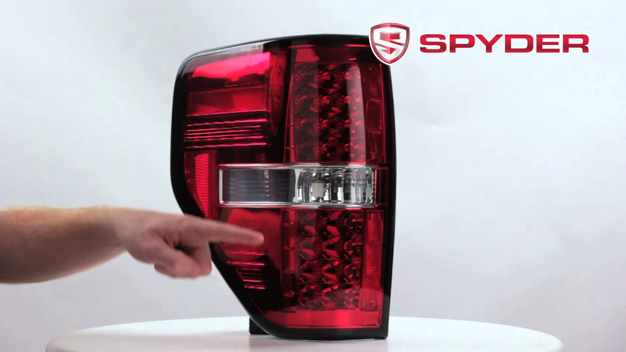 spyder auto product showcase 2009 12 ford f 150 styleside led tail light y. Black Bedroom Furniture Sets. Home Design Ideas