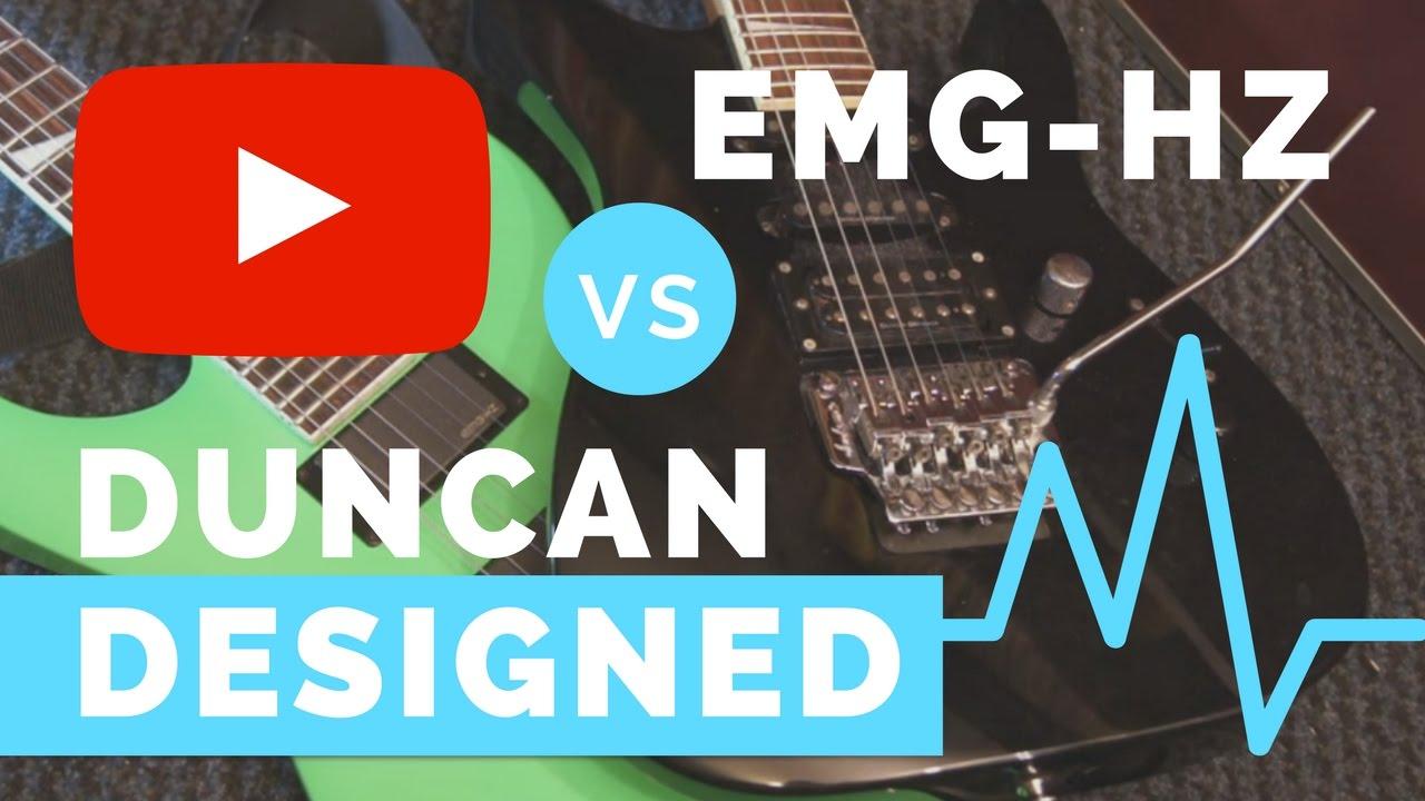 duncan designed vs emg hz pickup comparison [ 1280 x 720 Pixel ]