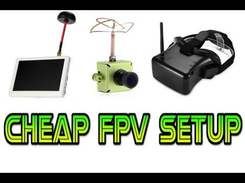 CHEAPEST FPV SETUP FOR RC DRONES ETC