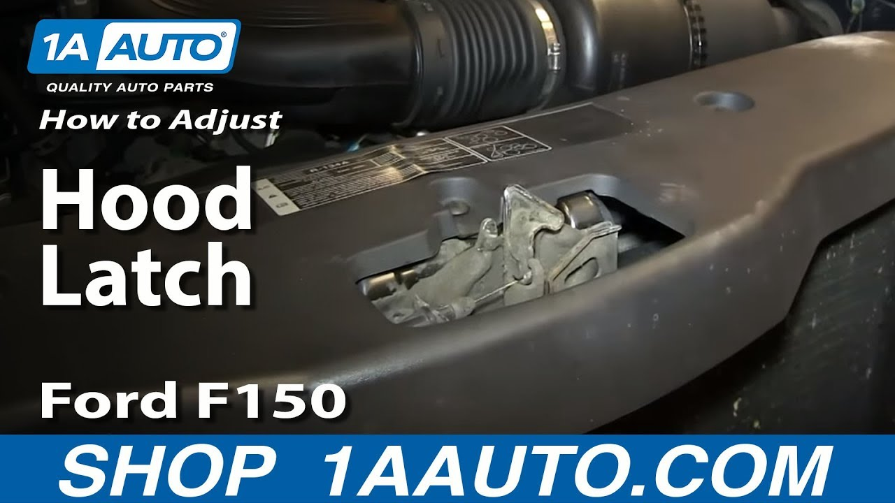 Why and how to adjust a hood latch to stop a rattle ford f150 and most vehicles youtube