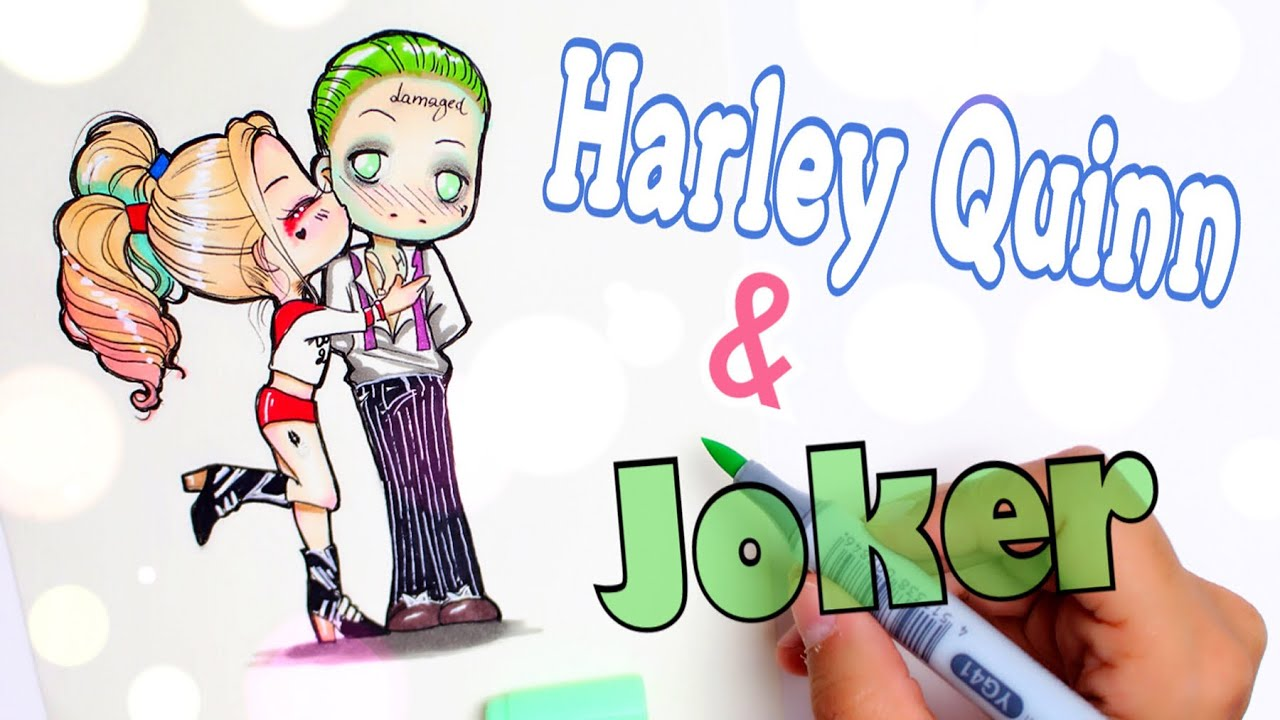Quinn Drawing: How To Draw HARLEY QUINN & JOKER