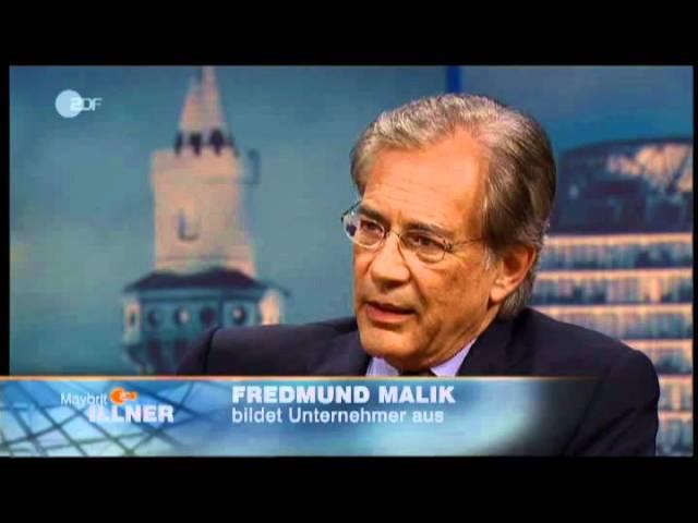 Maliks punktgenaue Krisenprognose bei Maybrit Illner, 04/2009 (ganzer Auftritt)