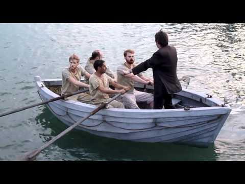Die Männer der Emden  Rudertraining im Hafen von Galle