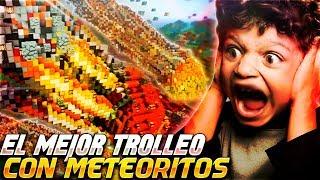 CAE un METEORITO en su CASA | TROLLEOS EN MINECRAFT #224