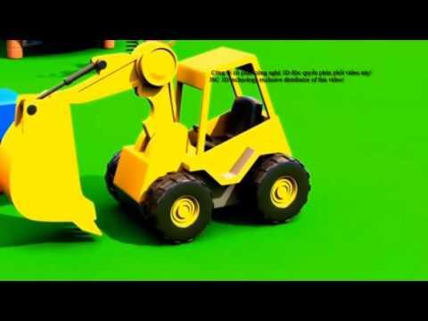 Lắp ráp máy xúc đào, ô tô, máy công trường xây dựng cho trẻ em