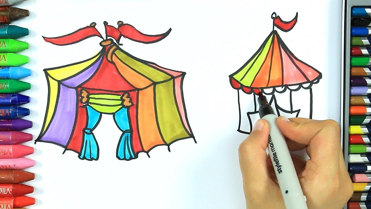 Come Disegnare E Colorare Circo Colori Disegno Colorare