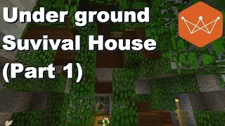 Roofed Forest Under ground survival house part 1 Minecraft Tutorial