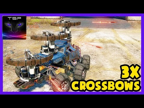 Crossout #57 - ULTIMATE TROLL BUILD - 2x Triple Crossbows in 5k PS - Coop Gameplay