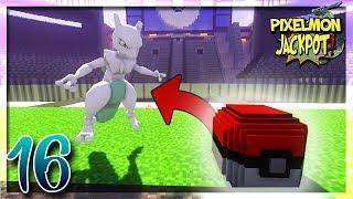UN ÉNORME MEWTWO SHINY DANS UN LUCKY BLOCK ! | PIXELMON JACKPOT #16 - Minecraft Moddé Pokémon