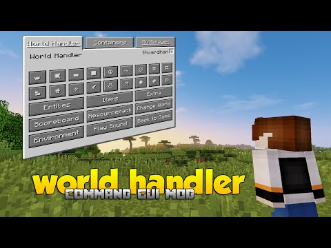 World Handler | Command Gui Mod | Minecraft 1.10