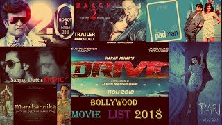 LIST OF TOP 8 BOLLYWOOD MOVIES 2018   POSTER   STAR  CAST   DIRECTOR NAME   RELEASE DATE