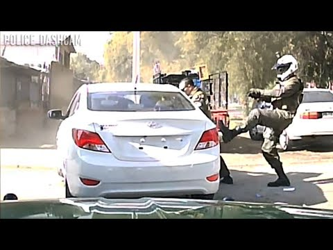 Chile Police Department High Speed Chase Stolen Car (Dashcam).