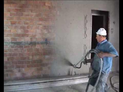 Mortar Spraying Machine 2 Pre Spray First Layer