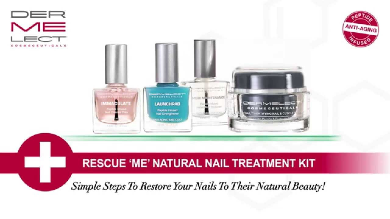 Dermelect Rescue \'ME\' Natural Nail Treatment Kit - YouTube