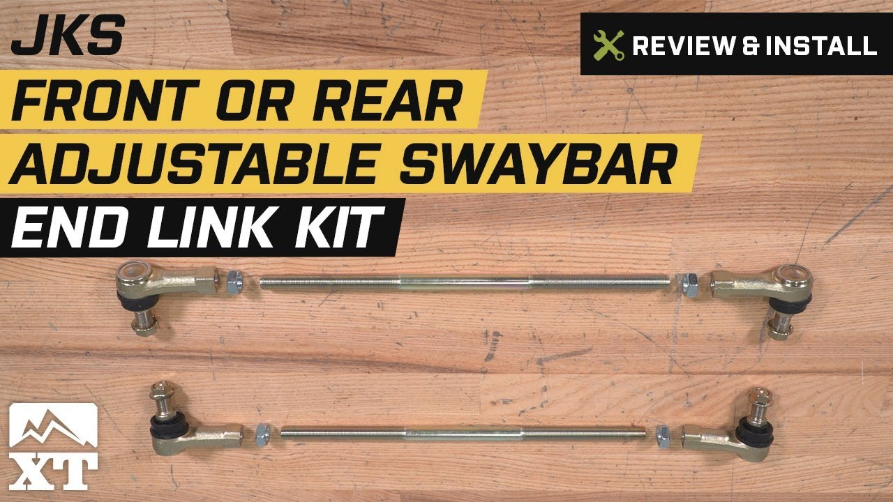 how to install a jks front or rear adjustable swaybar end link kit on your 2007 2017 jeep wrangler extremeterrain [ 1280 x 720 Pixel ]
