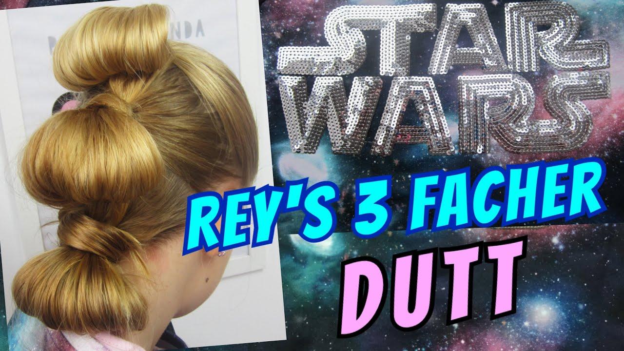 STAR WARS Frisur ✨ 3 facher Dutt ✨ Karneval Kostüm Rey