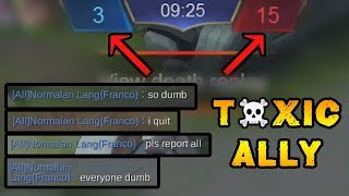 When You Have A Bad Start And A Toxic Teammate + Epic Come Back - Mobile Legends