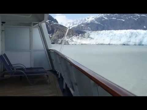Tour of cabin & balcony on the Carnival Miracle, Alaska 2014