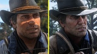 Red Dead Redemption 2 Trailers vs Retail Xbox One X Graphics Comparison