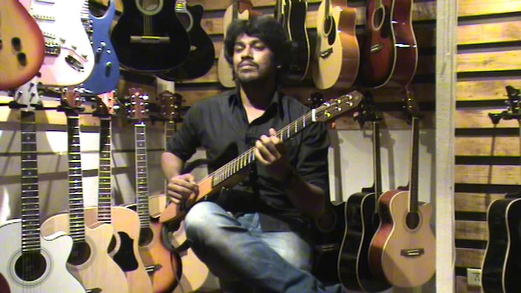 Saree ke fall sa-Guitar solo Likhith Kurba - YouTube