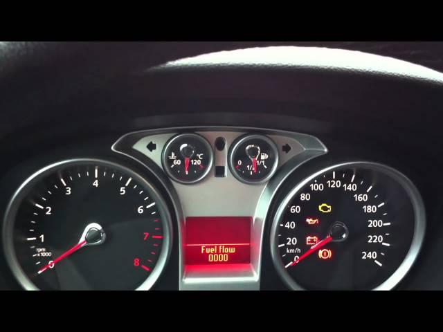 Ford Focus Gauge Test Menüsü -- Gauge Sweep