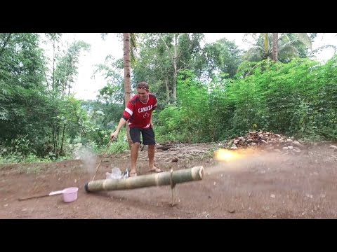A Day of Explosions - The Filipino Bamboo Cannon (Lantaka)