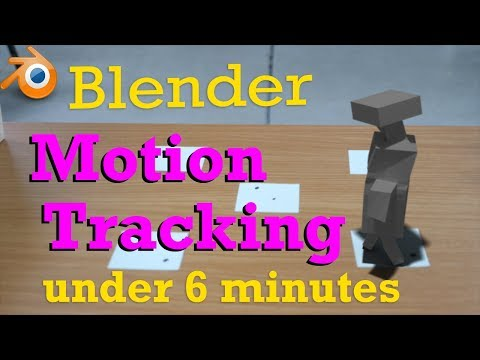 Blender Motion Tracking In UNDER 6 MINUTES