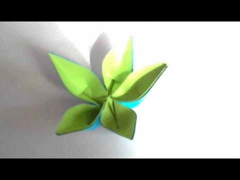 Origami fleur de pantin youtube - Youtube origami fleur ...