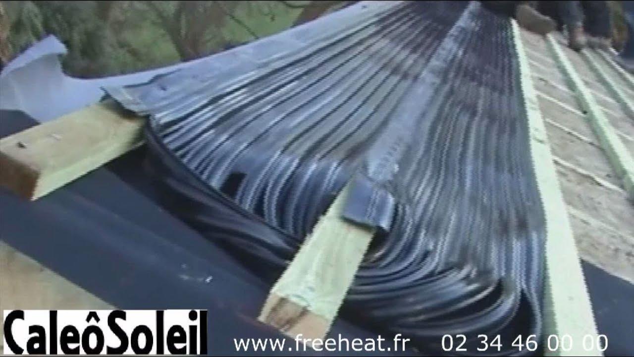 Absorbeur pour ardoise solaire et tuile solaire en verre youtube for Tuile ou ardoise