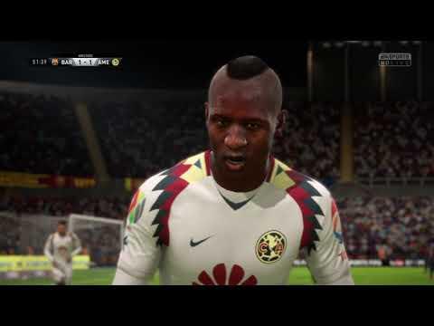 América vs Barcelona Fifa 18