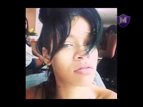 natural rihanna muestra su rostro sin maquillajes youtube