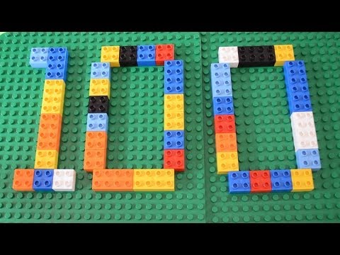 Counting to 100 by 10s exercise songs for kindergarten with LEGO Duplo