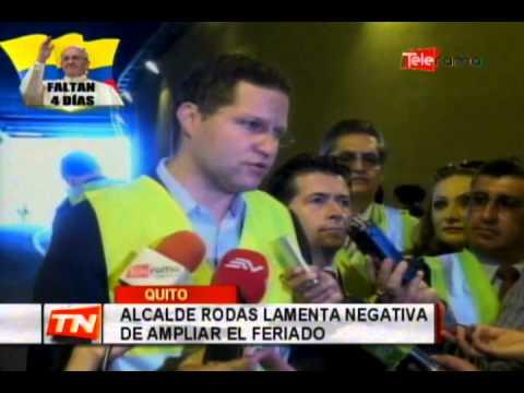 Alcalde Rodas lamenta negativa de ampliar el feriado
